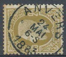 NB - [807684]TB//O/Used-N° 32, 25c Bistre, Obl Simple Cercle 'ANVERS' - 1869-1883 Leopold II