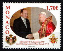 """MONACO 2006 : N° 2573 - """" Visite De SAS Le Prince Albert II à SS Le Pape Benoit XVI """" - Neuf** - - Neufs"""