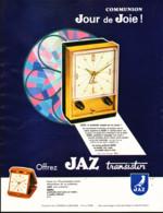 """PUB REVEILS """" JAZ TRANSISTOR  """" De """" JAZ """" 1965 ( 27 ) - Wecker"""