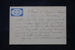 FRANCE - Étiquette Commerciale De Paris Sur Carte Précurseur Pour Amiens En 1877, Affranchissement Sage 15ct  - L 86404 - Precursor Cards