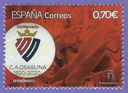 España. Spain. 2021. Futbol. Centenario Club Atlético Osasuna - 2011-... Neufs