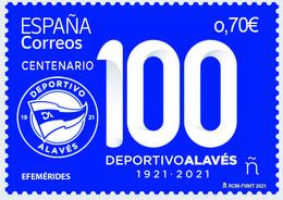 España. Spain. 2021. Futbol. Centenario Deportivo Alavés - 2011-... Neufs