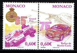 "MONACO 2006 : N° 2577-2578 - Paire  "" Courses Automobiles "" - Neuf** - - Neufs"