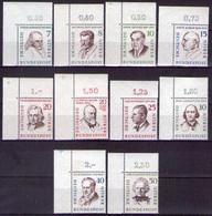 Berlin 1957 Mi.-Nr. 163 - 172  Postfrisch ** Kpl. Satz Mit Obereckrand. (D16-028) - Ongebruikt