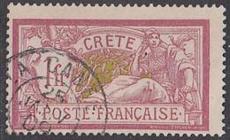 Crète (île De) Bureau Français - N° 13 (YT) N° 12 (AM) Oblitéré De La Canée. - Oblitérés