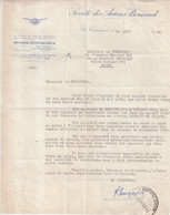 """FRANCE : LETTRE A ENTETE . """" SOCIETE DES AVIONS ET HYDRAVIONS BERNARD """" . AU SUJET D'UNE COMMANDE . 1934 . - 1927-1959 Brieven & Documenten"""