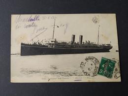 "Paquebot - Peninsular And Oriental ""MOOLTAN"" / Timbre Et Cachet 1912 - Paquebots"