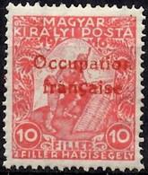 HONGRIE  ARAD - OCCUPATION FRANÇAISE - Surcharge Rouge - Unused Stamps