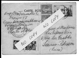 Entier Arc De Triomphe Censuré Du 30/11/1939 - CRE Camp Rassemblement De Francillon D'un Indésirable Allemand Interné RR - Guerra De 1939-45