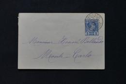 MONACO - Entier Postal ( Enveloppe ) Type Charles III Pour Monaco En 1887 - L 86452 - Interi Postali