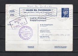 FRANCE - FR519 - Entier 515-CP - Salon Du Prisonnier - 1942 - Cartoline-lettere