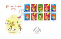 Enveloppe 1er Jour Fête Du Timbre 2005, Titeuf, Carnet (YT BC3751a) - 2000-2009