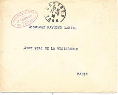 81-cachet Hospice Mixte De Castres Sur Lettre Sans Correspondance En 1916 - 1. Weltkrieg 1914-1918