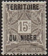 Niger Obl. N° Taxe  3 - Ornements Le 15c Gris - Oblitérés