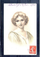 Carte Illustrée. Portrait De Femme A & M. B. N°146 - 1900-1949