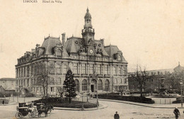 LIMOGES - Hôtel De Ville  -  Le Central Hôtel- Restaurant, Place Jourdan - LOT 2 CARTES - Limoges