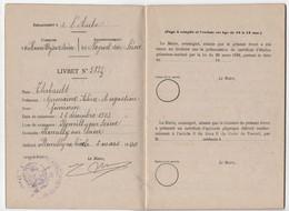 LIVRET DE TRAVAIL DES ENFANTS DANS L INDUSTIE - Romilly Sur Seine -  1920 - Sin Clasificación