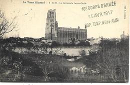 81-cachet Hôpital Temp.N°34 à Albi Sur CP   En 1917 - 1. Weltkrieg 1914-1918