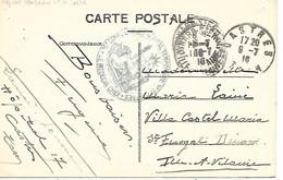 81-cachet Hôpital Temp. N°17 à Castres Sur CP En 1916 - 1. Weltkrieg 1914-1918