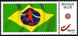 DUOSTAMP** / MYSTAMP** -  Diables Rouges / Rode Duivels / Rote Teufel / Red Devils - Coupe Du Monde De Football 2014 - 2014 – Brazilië