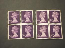 GRAN BRETAGNA - 1973 REGINA  5 1/2 P. Banda Centrale-5 1/2 P. Due Bande, In Quartine - NUOVO(++) - Unused Stamps