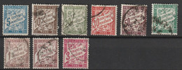 France Taxe YT 28 29 31 33 37 38 40 40A 42A Cote 5, 00 - 1859-1955 Used