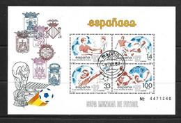 ESPAGNE 1982 FOOTBALL YVERT N°B31/32 OBLITERATION 1er JOUR - 1982 – Espagne