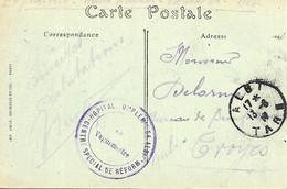 81-cachet Hôpital Comp. N°54 -Centre Spécial De Réforme à Albi Sur CP En 1917 - 1. Weltkrieg 1914-1918