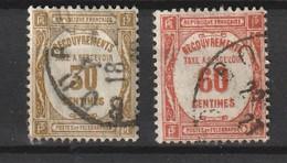 France 1927-1931 Taxe YT 57 58 Cote 1,00 - 1859-1955 Used