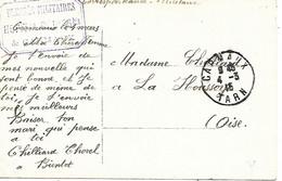 81-cachet Hôpital Bénévole N°36 Bis à Carmaux Sur CP En 1915 - 1. Weltkrieg 1914-1918