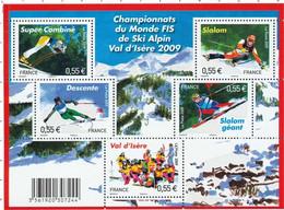 F 4329 Feuillet Championnat Du Monde De Ski Alpin Neuf (2009) - Ungebraucht