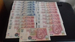 Lot De Billets Afrique Du Sud 100 Rands Et 50 Rands - Suráfrica