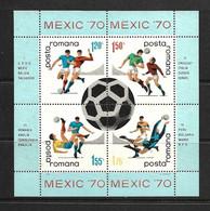 ROUMANIE 1970 FOOTBALL  YVERT N°B76 NEUF MNH** - 1970 – Mexique