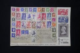 FRANCE - Enveloppe De L'Exposition Philatélique De Chatillon / Bagneux En 1944 Avec Tous Les Timbres Pétain - L 86484 - 1921-1960: Modern Period