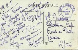 81-cachet Hôpital Comp. N°58 à Lavaur Sur CP En 1918 - 1. Weltkrieg 1914-1918