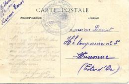 81-cachet Hôpital Bénévole N°58 Bis à Lavaur Sur CP En 14/18 - 1. Weltkrieg 1914-1918