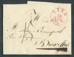 LAC De LIERle 28 Avril 1830 Vers Bruxelles. Port '15' Cents. Splendide Qualité. - 17161 - 1815-1830 (Holländische Periode)