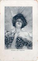 """Portrait De Femme - Femme Aux Glycines - Pub Offertt Par """"La Maison Modèle"""" NIMES  (120939) - 1900-1949"""