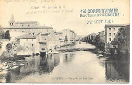 81-cachet Hôpital Temp. N°17 à Castres Sur CP En 1914-erreurs Sur Cachet:Castre Sans S Et 1904 Au Lieu De 1914 - 1. Weltkrieg 1914-1918