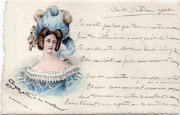 Femme Art Nouveau - Coiffure Aquarellée   (120945) - Ante 1900