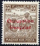 Hongrie - Occupation Française D'Arad - Timbre Surimprimé De Hongrie 1916-1917 - Neufs