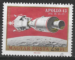 Hungary 1970. Scott #C308(a) (U) Apollo 13 Over Moon - Gebruikt