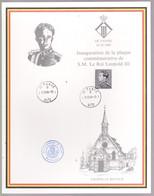 N° 2111 Inauguration De La Plaque Commémorative  De S.M.LeRoi Léopold III.  DePanne  13/10/84  ZIE Voir SCANS - Souvenir Cards