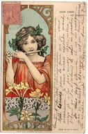 Jeune Femme - Art Nouveau - Jouant Avec Une Flute  - Carte à Système (Lumière)    (120949) - 1900-1949