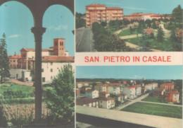 VENDO CARTOLINA DI SAN PIETRO IN CASALE (BO) -SALUTI- VIAGGIATA, PERFETTA - Bologna