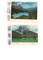 4 Different British Columbia & Alberta  Canada, 4 4X6. MT Eisenhower, Sinclair Canyon, Peyto & Emerald Lake - Zonder Classificatie
