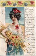 Femme Art Nouveau - Moissonneuse (Faucille)    (120950) - Ante 1900