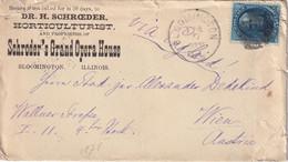 USA 1878 LETTRE DE BLOOMINGTON POUR WIEN - Cartas