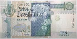 Seychelles - 10 Roupies - 1998 - PICK 36b - SUP+ - Seychelles