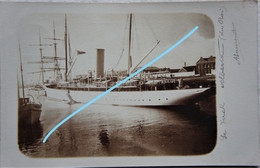 Photo OOSTENDE YACHT Albert Du Roi Leopold II Koning Albert De Belgique Marin Marine 1901 - Schiffe